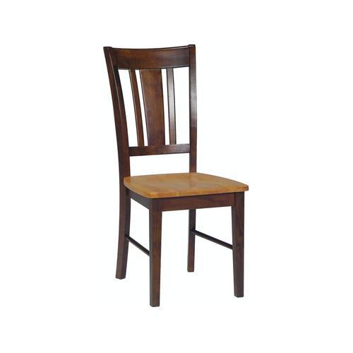 San Remo Chair in Cinnamon & Espresso