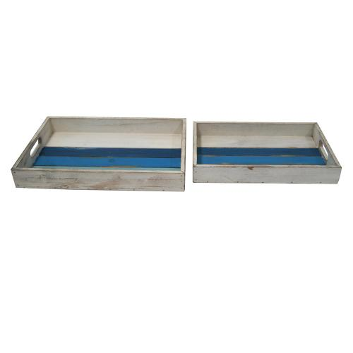 Crestview Collections - White Wash Trays