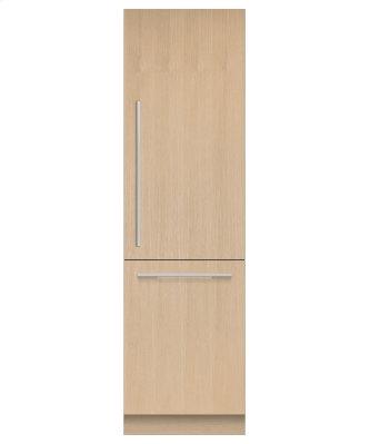 "Integrated Refrigerator Freezer, 24"", Ice & Water"