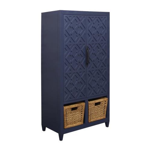 Topher 2-door Cabinet In Indigo