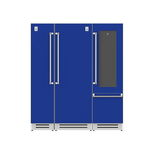 "Hestan - 72"" Column Freezer (L), Refrigerator and Wine Refrigerator ® Ensemble Refrigeration Suite - Prince"