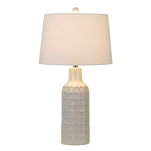 150W Regina Ceramic Table Lamp With Taper Drum Linen Hardback Shade (Priced And Sold As Pairs)