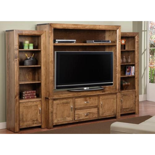 Handstone - Contempo Side Unit Bookcase Only from CO460 Wall Unit