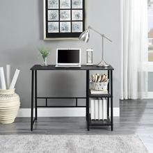 "Frame Works 40"" Desk With Two Storage Shelves"