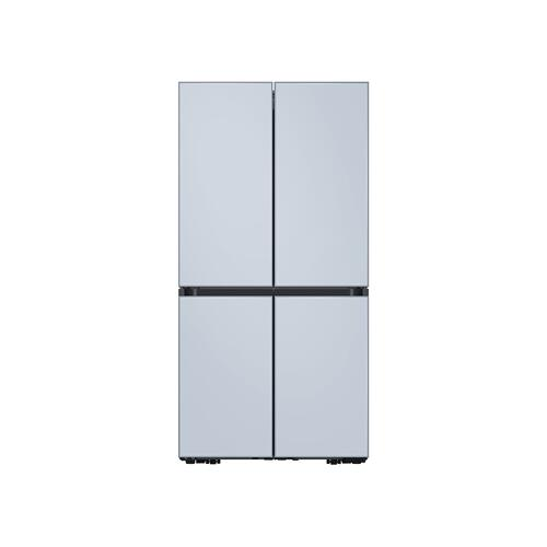 29 cu. ft. Smart BESPOKE 4-Door Flex™ Refrigerator with Customizable Panel Colors in Sky Blue Glass