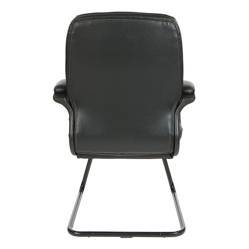 Thick padded contoured seat and back with built-in lumbar support