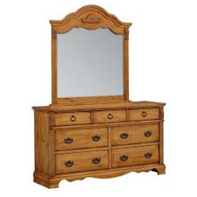 Georgetown 7-Drawer Dresser, Honey Pine
