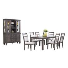 See Details - Dining Set with China Cabinet - Shades of Gray (9 Piece)