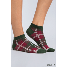 Perfectly Plaid Ankle Socks (12 pc. ppk.)