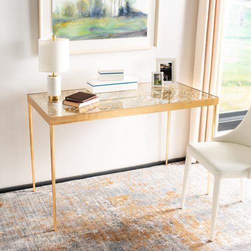 Leilani Palm Leaf Desk - Gold Leaf