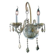 7852 Verona Collection Wall Sconce D:14in H:20in E:8.5in Lt:2 Golden Teak Finish