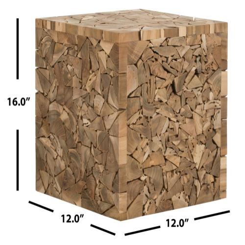 Forbes Teak Square Stool - Medium Oak