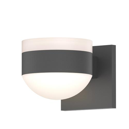 Sonneman - A Way of Light - REALS® Up/Down LED Sconce [Color/Finish=Textured Gray, Lens Type=White Cylinder Lens and Dome Lens]