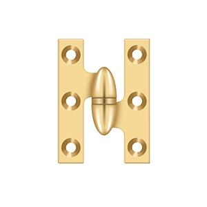 """2"""" x 1 1/2"""" Hinge - PVD Polished Brass Product Image"""
