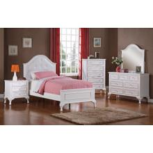 Jesse Bedroom - Twin Bed, Dresser, Mirror, Chest, and Night Stand