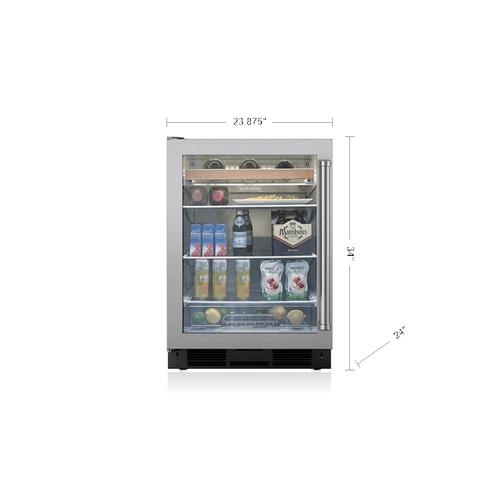 "Gallery - Legacy Model - 24"" Undercounter Beverage Center - Stainless Door 1 ONLY FLOOR DISPLAY"