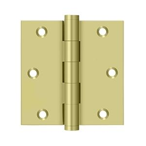 """Deltana - 3-1/2"""" x 3-1/2"""" Square Hinge, Residential - Polished Brass"""