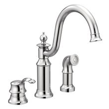 Waterhill chrome one-handle kitchen faucet