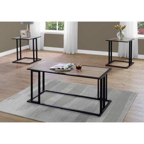 Gallery - TABLE SET - 3PCS SET / DARK TAUPE / BLACK METAL
