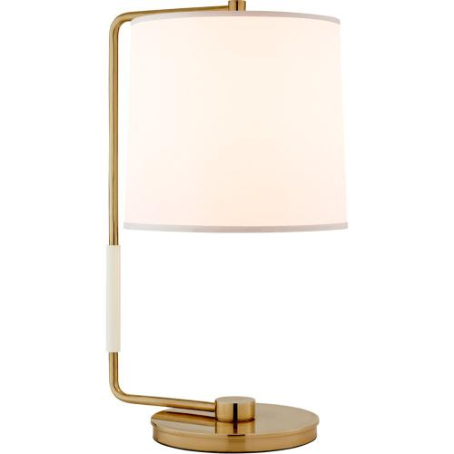 Visual Comfort BBL3070SB-S Barbara Barry Swing 22 inch 75 watt Soft Brass Table Lamp Portable Light