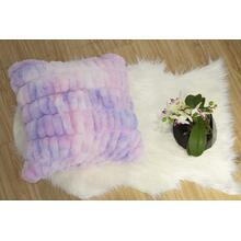 "Nuevo Faux Fur Pillow Cotton Candy by Rug Factory Plus - 20"" x 20"" / Cotton Candy"
