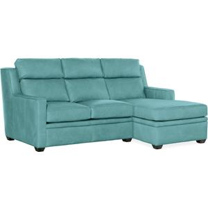 Bradington Young Raymond LAF Stationary Loveseat 8-Way Hand Tie - Two Pc Back 201-57-2