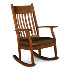 Oakland Slat Rocker, Leather Cushion Seat