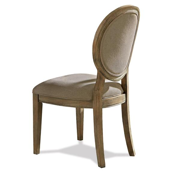 Riverside - Sonora - Upholstered Oval Side Chair - Snowy Desert Finish