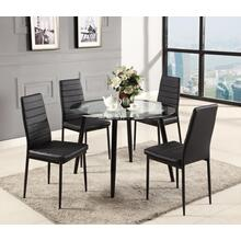 BLACK DINING CHAIR (4 IN 1 BOX)