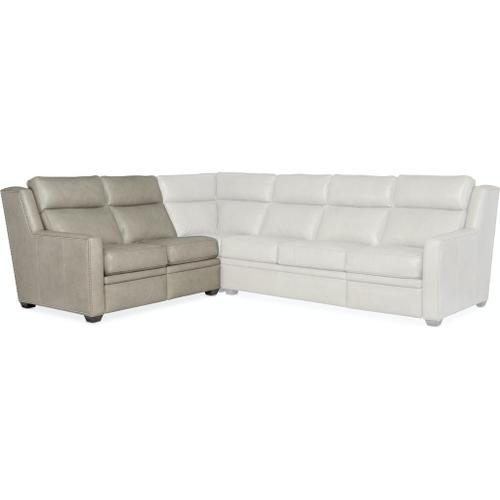 Bradington Young Sectionals 203 Revelin Reclining Sectional with Two-Piece Back