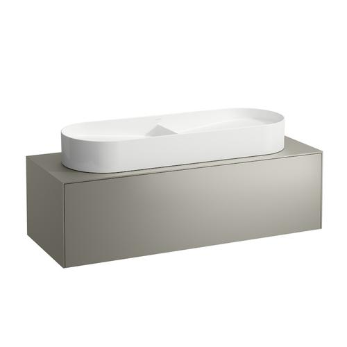 White Matte Drawer element, 1 drawer, matching washbasin bowls 812348, 812349, centre cut-out