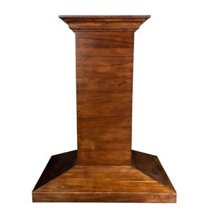 ZLINE Ducted Wooden Island Mount Range Hood in Walnut with Remote Motor (KBiRR-RD) [Size: 30 Inch] -