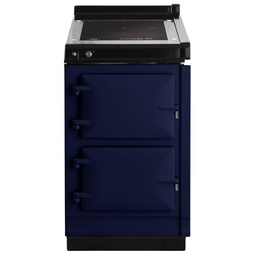 "AGA Hotcupboard 20"" Induction Dark Blue with Stainless Steel trim"