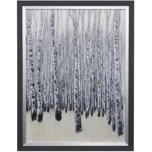 Style Craft - NEUTRAL ASPENS II  28 X 36  Made in USA  Textured Framed Print