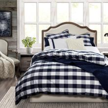3 PC Camille Comforter Set, Navy - Twin