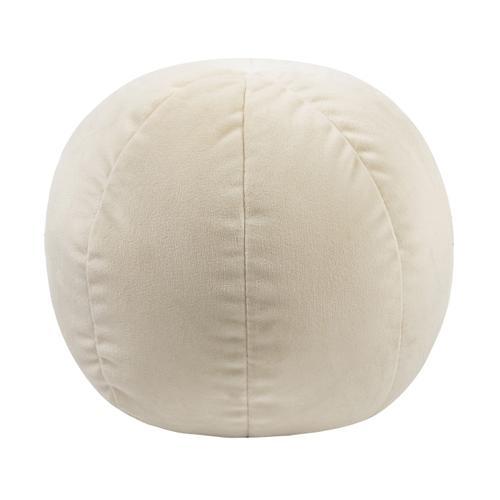 """Tov Furniture - Boba 14"""" Cream Velvet Pillow"""