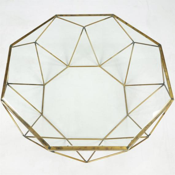 Riverside - Octagon Coffee Table Top - Polished Brass Finish