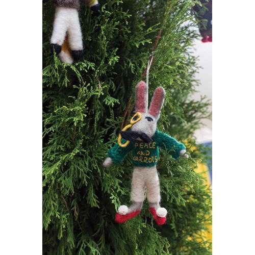 "8"" Grey E+E Sweater Ornament (Eric Hare Option)"