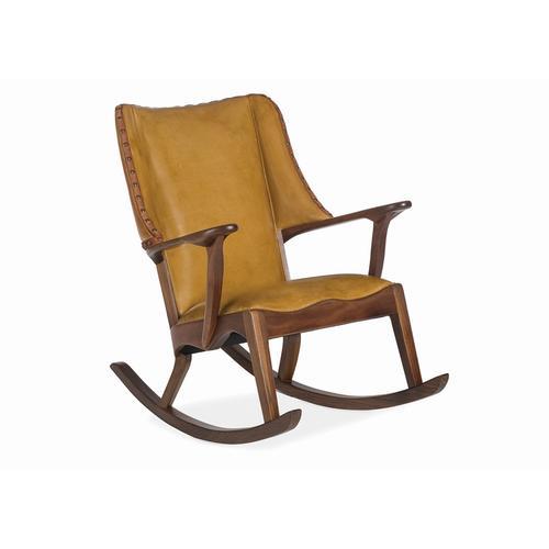 Braiding Rocking Chair Walnut Wood