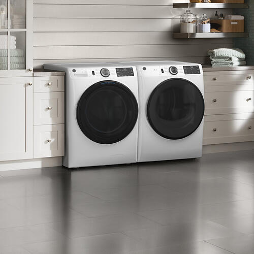 GE® 7.8 cu. ft. Capacity Gas Dryer with Built-In Wifi White - GFD55GSSNWW