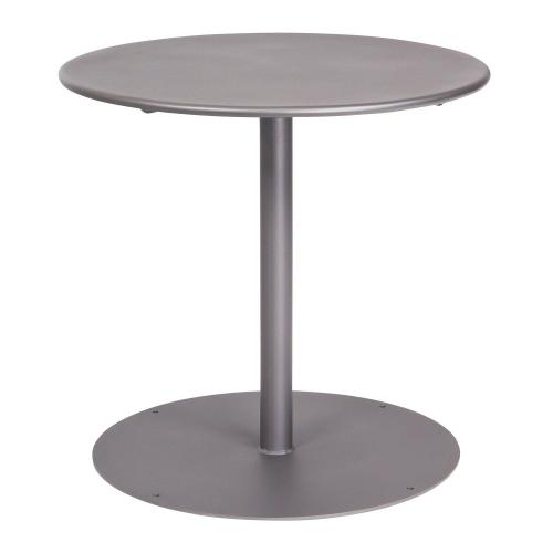 """Woodard Furniture - Solid Iron 30"""" Round Bistro Table with Pedestal Base"""