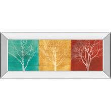 """Fallen Leaves"" By Stephane Fontaine Mirror Framed Print Wall Art"