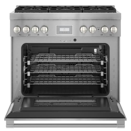 Thermador - Gas Professional Range 36'' Pro Harmony® Standard Depth Stainless Steel PRG366WH