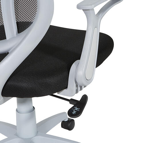 Black Mesh With Grey Frame Chair