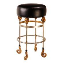 Armory Short Black Bar Stool