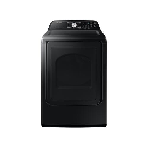 7.4 cu. ft. Electric Dryer with Sensor Dry in Black Stainless Steel