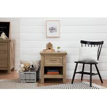 Emory Farmhouse Nightstand in Driftwood Finish