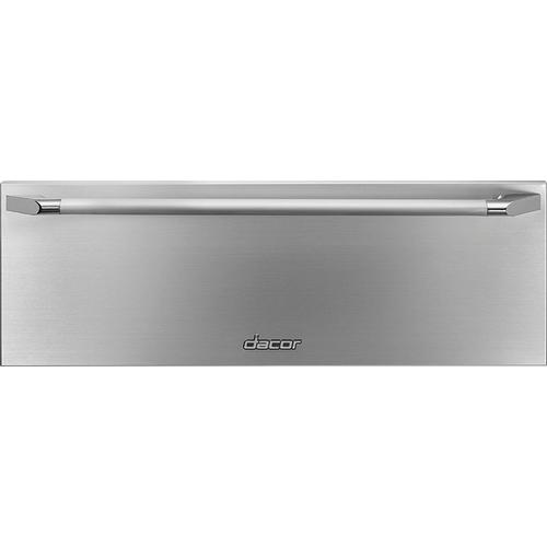 """Dacor EWD30SCH   Heritage 30"""" Epicure Warming Drawer, Silver Stainless Steel"""