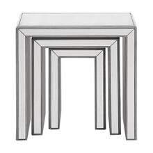 3 Pcs Nested Tables 23 in. x 15 in. x 23 in. in Silver paint
