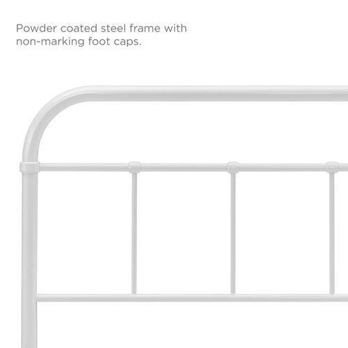 Serena King Steel Headboard in White